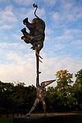 """Dunamis, """"Achieving the impossible"""", a sculpture by Bushra Fakoury, Park Lane, near Hyde Park Corner, London, UK."""