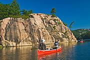 Canoeing on Killarney Lake <br />Killarney Provincial Park<br />Ontario<br />Canada