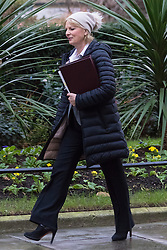 Downing Street, London, February 2nd 2016. Minister for Small Business, Industry and Enterprise Anna Soubry arrives at No 10 prior to attending the weekly Cabinet meeting. ///FOR LICENCING CONTACT: paul@pauldaveycreative.co.uk TEL:+44 (0) 7966 016 296 or +44 (0) 20 8969 6875. ©2015 Paul R Davey. All rights reserved.