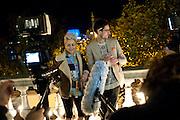 JAIME WINSTONE, Dazed & Confused 20th Anniversary Exhibition. Somerset House. London. 3 November 2011<br /> <br />  , -DO NOT ARCHIVE-© Copyright Photograph by Dafydd Jones. 248 Clapham Rd. London SW9 0PZ. Tel 0207 820 0771. www.dafjones.com.