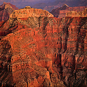 Twilight on Confucius Temple from Point Sublime on the North Rim of Grand Canyon National Park