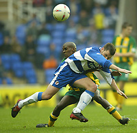 Photo Aidan Ellis, Digitalsport<br /> NORWAY ONLY<br /> <br /> Reading v West Bromwich Albion.<br /> Nationwide Divison 1.<br /> 01/05/2004.<br /> Reading's Graeme Murty and West Brom's Lloyd Dyer