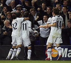 02.11.2010, White Hart Lane, London, ENG, UEFA CL, Tottenham Hotspurs vs Inter Mailand, im Bild Rafael van der Vaart of Tottenham makes 1-0 and celebrates, EXPA Pictures © 2010, PhotoCredit: EXPA/ IPS/ M. Pozzetti *** ATTENTION *** UK AND FRANCE OUT!