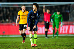 Leroy Sane of Manchester City celebrates scoring his sides first goal of the game - Mandatory by-line: Ryan Hiscott/JMP - 16/02/2019 - FOOTBALL - Rodney Parade - Newport, Wales - Newport County v Manchester City - Emirates FA Cup fifth round proper