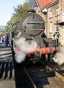 Steam train at Grosmont station, North Yorkshire Moors Railway, Yorkshire, England