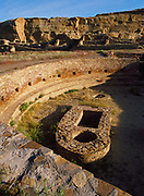 Great Kiva, more than sixty feet in diameter, Chetro Ketl Pueblo, Chaco Culture National Historical Park, New Mexico.