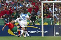 Lisbon 16/6/2004 Euro2004 <br />RUSSIA PORTUGAL<br />Maniche segna il gol del vantaggio del Portogallo<br />Maniche scores 1-0 for Portugal<br />Photo Graffiti