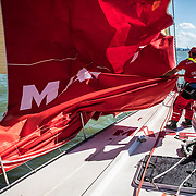 Leg 8 from Itajai to Newport, day 01 on board MAPFRE, start day. 22 April, 2018.
