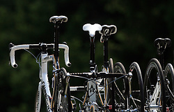 Bikes at car`s roof during 1st stage of the 15th Tour de Slovenie from Ljubljana to Postojna (161 km) , on June 11,2008, Slovenia. (Photo by Vid Ponikvar / Sportal Images)/ Sportida)
