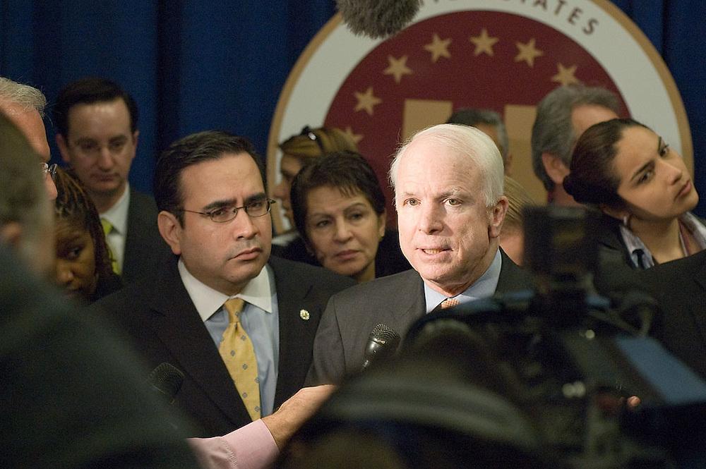 Sen. John McCain at the USHCC Legislative Affairs meetings, April 4, 2006.