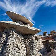 Double Hoodoo - Bisti Badlands - New Mexico