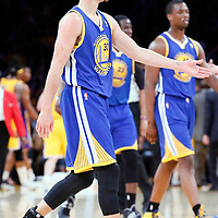 11 April 2014: Golden State Warriors guard Stephen Curry (30) goes back to the bench during the Golden State Warriors 112-95 victory over the Los Angeles Lakers at the Staples Center, Los Angeles, California, USA.