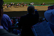30174108A LOUISVILLE, KY. - MAY 1, 2015: Jockey Kerwin D. Clark rides Lovely Maria, top right, during the 141st running of the Kentucky Oaks at Churchill Downs.<br /> <br /> William DeShazer for The New York Times