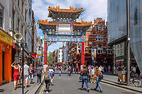 UK, London, China Town, tourism, travel, June, 2018, 201806234440<br /><br />Copyright Image from Victor Patterson, 54 Dorchester Park, <br />Belfast, UK, BT9 6RJ<br /><br />t1: +44 28 9066 1296 (from Rep of Ireland 048 9066 1296)<br />t2: +44 28 9002 2446 (from Rep of Ireland 048 9002 2446)<br />m: +44 7802 353836<br /><br />victorpatterson@me.com<br />victorpattersonbelfast@gmail.com<br /><br />Please see my Terms and Conditions of Use at victorpatterson.com. It is IMPORTANT that you familiarise yourself with them.<br /><br />Images used on the Internet incur an additional cost and must be visibly watermarked i.e. ©Victor Patterson within the body of the image and copyright metadata must not be deleted. Images used on the Internet have a size restriction of 4kbs and are chargeable at rates available at victorpatterson.com.<br /><br />This image is available only for the use of the download recipient i.e. television station, newspaper, magazine, book publisher, etc, and must not be passed on to any third party. It is also downloaded on condition that each and every usage is notified within 7 days to victorpatterson@me.com<br /><br />The right of Victor Patterson (or the named photographer) to be identified as the author is asserted in accordance with The Copyright Designs And Patents Act (1988). All moral rights are asserted.