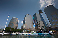 Pictures of  the MOD70's moored in The North Cove Marina NYC prior to The Krys Ocean Race...Credit: Lloyd Images