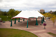 An event tent in Caras Park, Missoula Montana - taken with tilt-shift lens for a shallow depth of field. Missoula Photographer, Missoula Photographers, Montana Pictures, Montana Photos, Photos of Montana