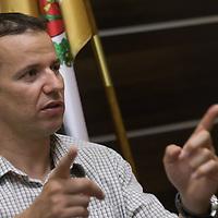 Laszlo Toroczkai mayor of border village Asotthalom talks during an interview in Asotthalom, Hungary on July 20, 2018. ATTILA VOLGYI