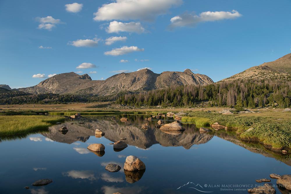 Unnamed lake along the Fremont Trail. Bridger Wilderness, Wind River River Range Wyoming