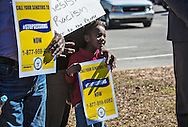People against Jeff Sessions' nomination for attorney general at a rally held by NAACP President, Cornell William Brooks and five other members of the civil rights group who were arrested at Sessions' office on Jan. 3, 2017. After the rally, held the day before a vote on Sessions will take place, the group occupied Sessions office again after their rally and were arrested again.
