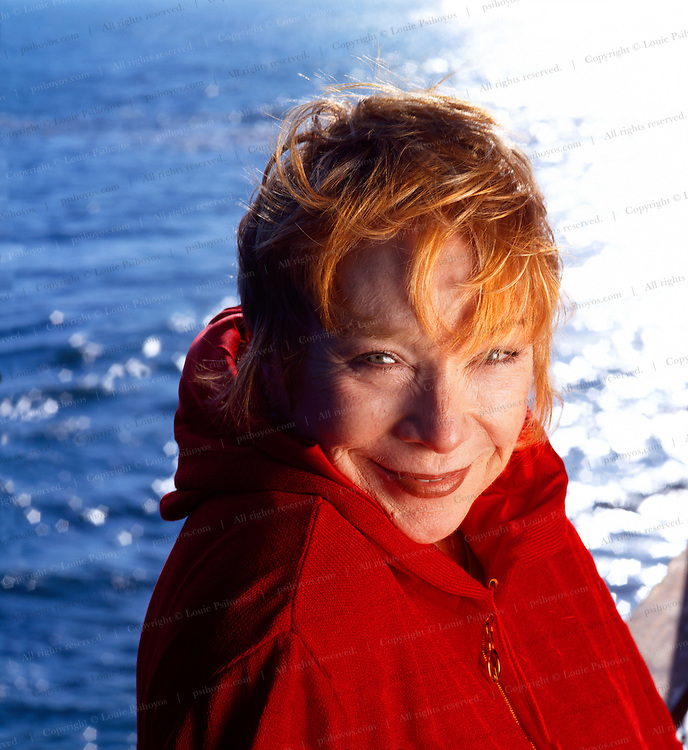 Shirley MacLaine, actress, photographed at her home in Malibu, California.<br /> Shirley MacLaine, actress, photographed at her home in Malibu, California.