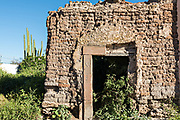 An abandoned ruin in the ghost town of Mineral de Pozos, Guanajuato, Mexico. The town, once a major silver mining center was abandoned and left to ruin but has slowly comeback to life as a bohemian arts community.