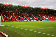 Fans in the stand during the EFL Sky Bet League 1 match between Charlton Athletic and AFC Wimbledon at The Valley, London, England on 12 December 2020.