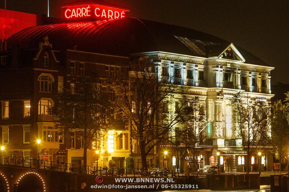 NLD/Amsterdam/20131102 - Theater Carre gezien vanaf de Magere Brug in Amsterdam,