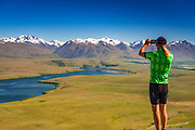 Sign at the start of the Tekapo Canal, Lake Tekapo, Canterbury, South Island, New Zealand