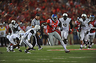 Mississippi Rebels wide receiver Damore'ea Stringfellow (3) catches a pass against Vanderbilt Commodores safety Andrew Williamson (32) at Vaught-Hemingway Stadium at Ole Miss in Oxford, Miss. on Saturday, September 26, 2015. (AP Photo/Oxford Eagle, Bruce Newman)
