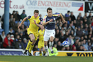 Cardiff City's Roger Johnson breaks away from Preston's Neil Mellor. Coca Cola championship, Cardiff city v Preston NE at Ninian Park on Sat 6th Dec 2008. pic by Andrew Orchard,Andrew Orchard sports photography