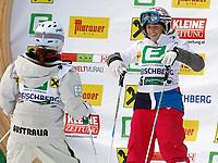 Freestyle<br /> FIS World Cup<br /> St Georgen Østerrike<br /> 22.12.2012<br /> Foto: Gepa/Digitalsport<br /> NORWAY ONLY<br /> <br /> FIS Weltcup der Damen, Dual Moguls. Bild zeigt Britney Cox (AUS) und Hedvig Wessel (NOR).