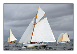 The final day of racing of the Fife Regatta on the King's Course North of Great Cumbrae<br /> <br /> Fiona, Didier Cotton, FRA, Gaff Cutter, Wm Fife 3rd, 2005<br /> <br /> * The William Fife designed Yachts return to the birthplace of these historic yachts, the Scotland's pre-eminent yacht designer and builder for the 4th Fife Regatta on the Clyde 28th June–5th July 2013<br /> <br /> More information is available on the website: www.fiferegatta.com