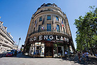 old england shop in Paris France in May 2008