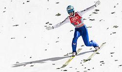 06.01.2016, Paul Ausserleitner Schanze, Bischofshofen, AUT, FIS Weltcup Ski Sprung, Vierschanzentournee, Bischofshofen, Finale, im Bild Michael Hayboeck (AUT) // Michael Hayboeck of Austria reacts after his 1st round jump of the Four Hills Tournament of FIS Ski Jumping World Cup at the Paul Ausserleitner Schanze in Bischofshofen, Austria on 2016/01/06. EXPA Pictures © 2016, PhotoCredit: EXPA/ JFK