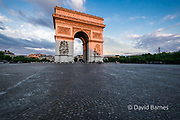 France, Paris (75), Arch of Triumph, Place de Charles de Gaulle
