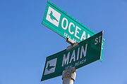 Ocean Ave and Main St in Seal Beach California