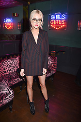 Nicola Hughes at the Maybelline New York Bring on The Night party hosted by Adriana Lima & Jourdan Dunn at Scotch of St.James, 13 Masons Yard, England. 18 February 2017.