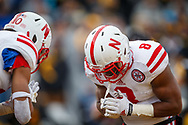 Ameer Abdullah #8 celebrates with Kenny Bell #80 during the final regular season game of his career - a 37-34 overtime win against Iowa at Kinnick Stadium on Nov. 11, 2014. © Aaron Babcock