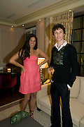 ELIZABETH SALTZMAN AND EDDIE REDMAYNE, Dinner hosted by Elizabeth Saltzman for Donatella Versace. Claridge's Hotel, Brook Street, Mayfair, London. 11 March 2008.  *** Local Caption *** -DO NOT ARCHIVE-© Copyright Photograph by Dafydd Jones. 248 Clapham Rd. London SW9 0PZ. Tel 0207 820 0771. www.dafjones.com.