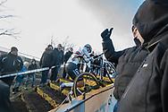 2019-12-27 Cycling: dvv verzekeringen trofee: Loenhout: Mathieu van der Poel working his way to the front