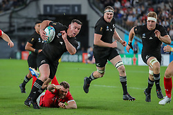 November 1, 2019, Tokyo, Japan: RYAN CROTTY of New Zealand in action against Wales during the Rugby World Cup 2019 bronze medal match held at Tokyo Stadium in Tokyo, Japan. New Zealand won the bronze 40:17.   (Credit Image: © Bruno Ruas/Fotoarena via ZUMA Press)