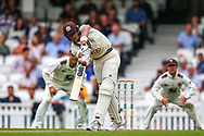 Jamie Smith of Surrey batting during the Specsavers County Champ Div 1 match between Surrey County Cricket Club and Kent County Cricket Club at the Kia Oval, Kennington, United Kingdom on 7 July 2019.