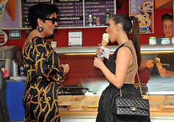 Kim Kardashian and her mother Kris Jenner leaving the Ritz Hotel, then they're shopping at Alaia and Bvlgari Stores and stopped eating an Ice Cream at Ben and Jerry's store in Paris, France on September 16, 2010. Photo by ABACAPRESS.COM  | 244374_010 Paris France