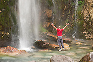Waterfall near Theth, Peaks of the Balkans Trail, Albania © Rudolf Abraham