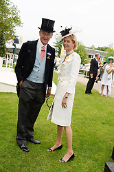 The DUKE & DUCHESS OF ROXBURGHE at Day 1 of the 2013 Royal Ascot Racing Festival at Ascot Racecourse, Ascot, Berkshire on 18th June 2013.