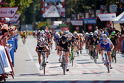 Jolien D'hoore beats Coryn Rivera to the line at Madrid Challenge by la Vuelta 2017 - a 87 km road race on September 10, 2017, in Madrid, Spain. (Photo by Sean Robinson/Velofocus.com)