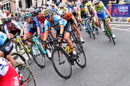 Women Road Race 129,4 km, peloton, Belgium, during the Cycling European Championships Glasgow 2018, in Glasgow City Centre and metropolitan areas, Great Britain, Day 4, on August 5, 2018 - Photo Dario Belingheri / BettiniPhoto / ProSportsImages / DPPI - Belgium out, Spain out, Italy out, Netherlands out -