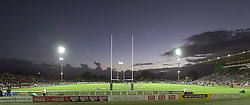 A general view of Arena Manawatu during the Super 12 rugby union match between the Hurricanes and the Stormers at Arena Manawatu, Palmerston North, New Zealand on Friday 25th March, 2005. The Hurricanes won the match 12-9. Photo: Marty Melville/Photosport....119020