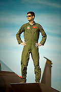 Major Jan Stahl, F-15 Eagle pilot.  Photographed at Nellis AFB, Las Vegas, Nevada.