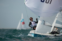 03.08.2012, Bucht von Weymouth, GBR, Olympia 2012, Segeln, im Bild Brauchli Yannick, Hausser Romuald, (SUI, 470 Men) // during Sailing, at the 2012 Summer Olympics at Bay of Weymouth, United Kingdom on 2012/08/03. EXPA Pictures © 2012, PhotoCredit: EXPA/ Juerg Kaufmann ***** ATTENTION for AUT, CRO, GER, FIN, NOR, NED, POL, SLO and SWE ONLY!